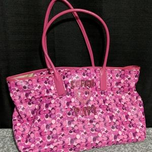 Coach Poppy Medium Tote Style Handbag Damaged